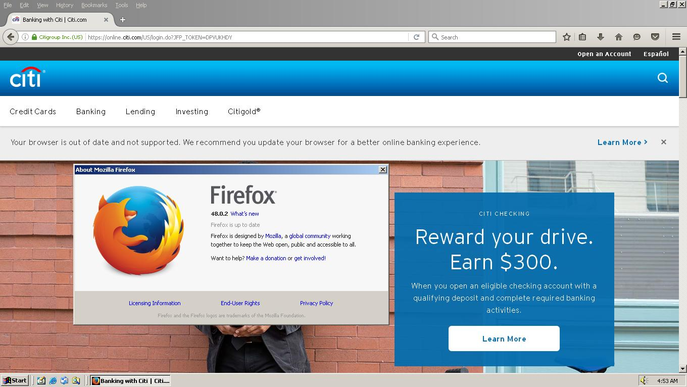 Spoofing Firefox 53 (and newer versions) on Windows 2000 and