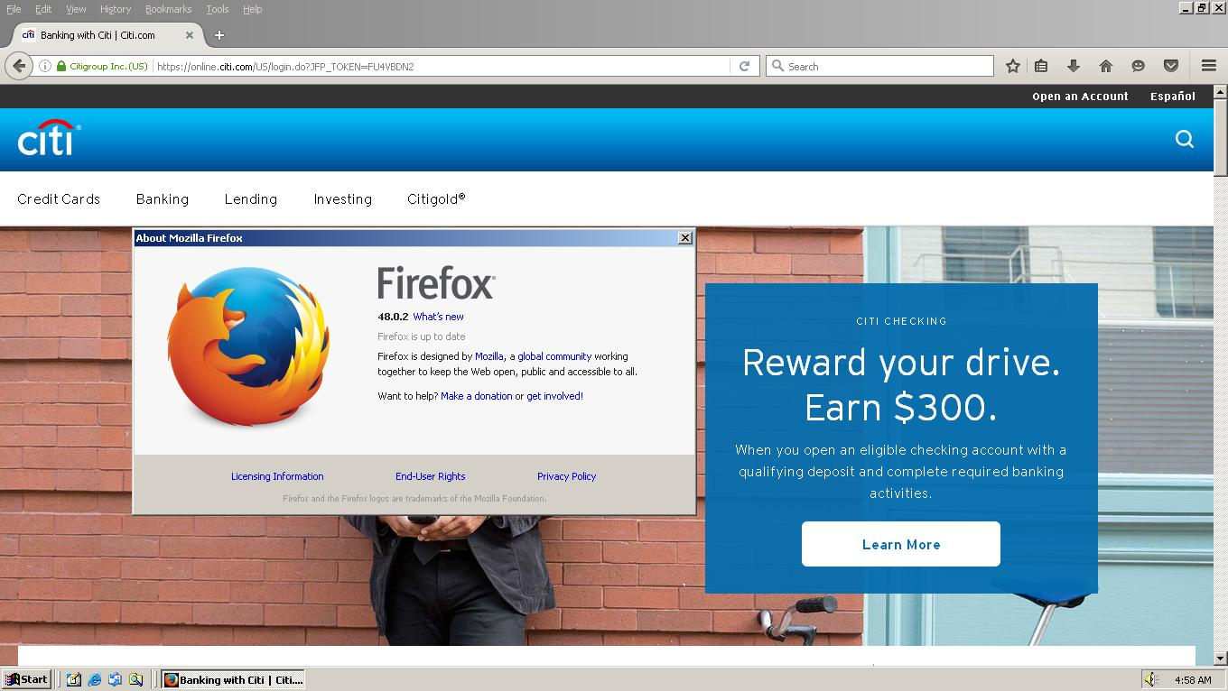 Spoofing Firefox 53 (and newer versions) on Windows 2000 and XP