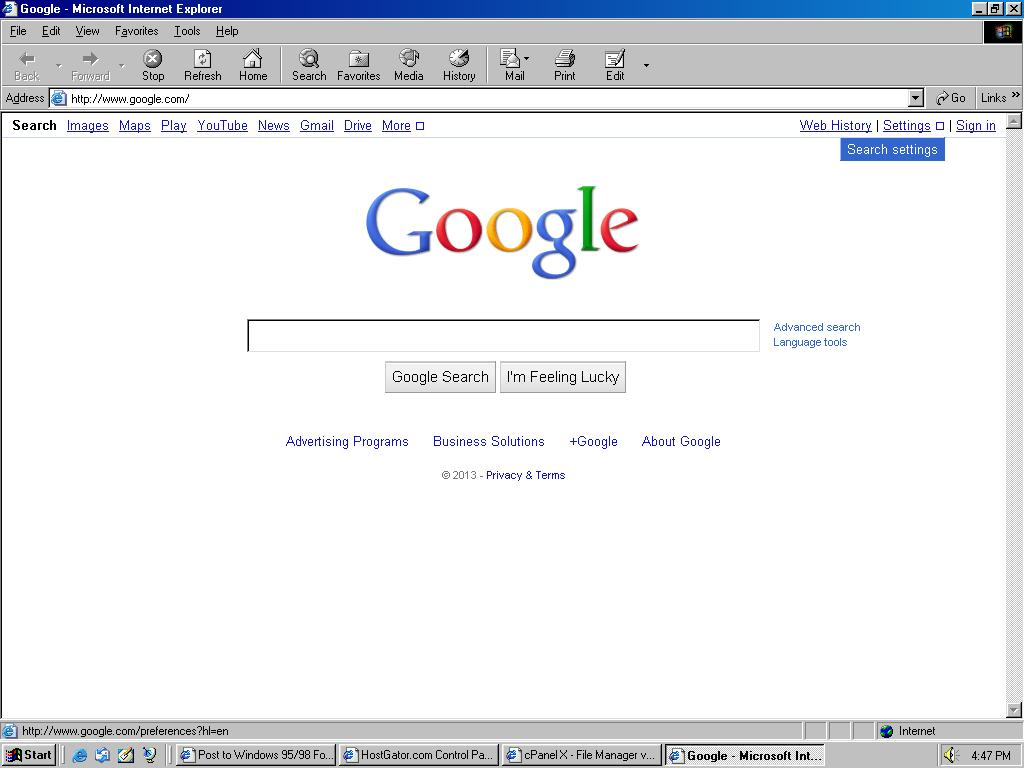 Windows nt 4 0 can 39 t access google homepage under ie6 windows 2000 2003 nt4 msfn - Google home page design ...