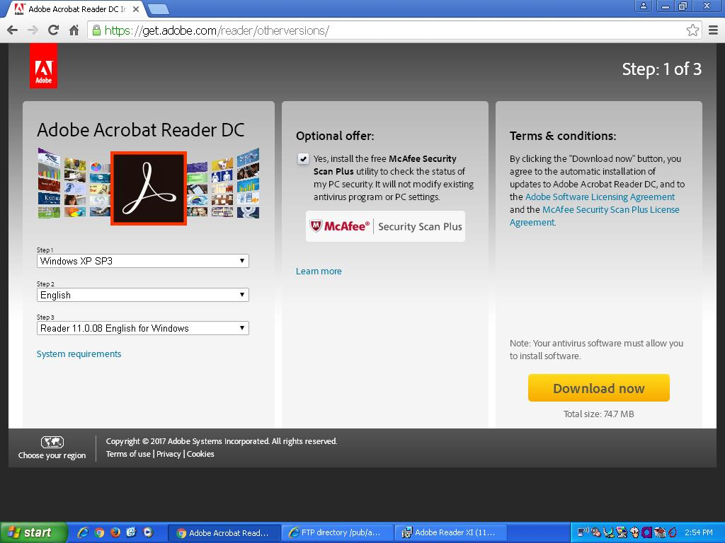 pdf reader for windows xp