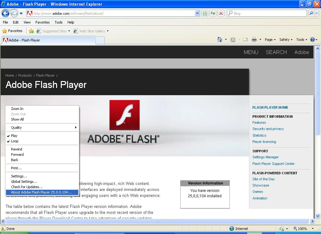 flash player 25 ppapi