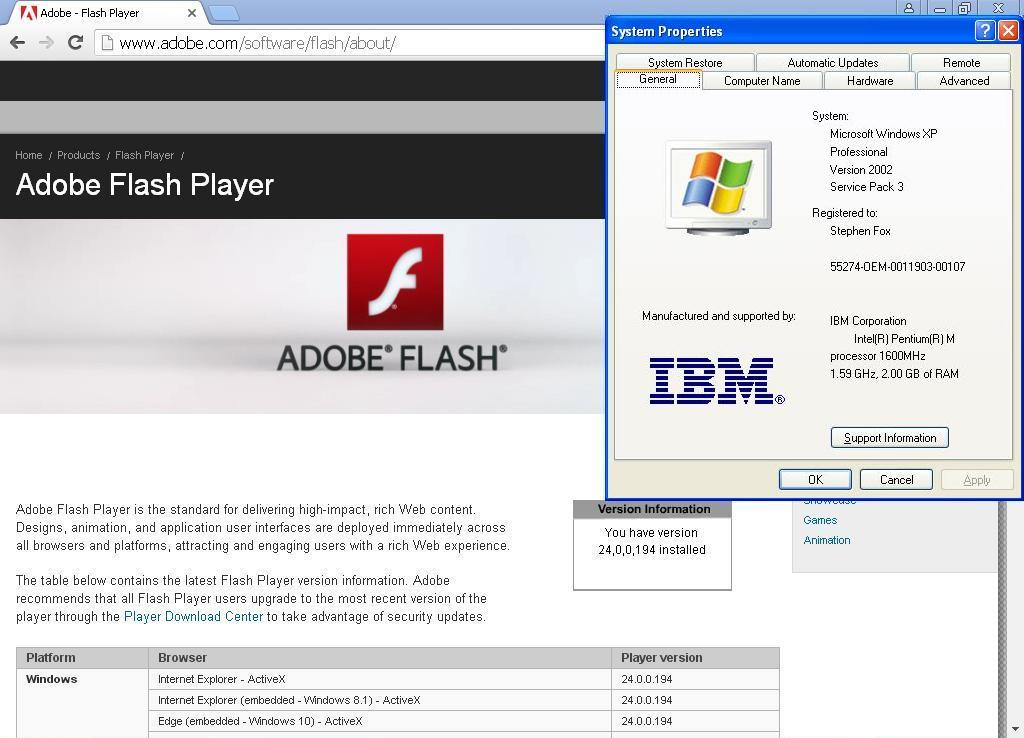 Newest Adobe Flash and Shockwave, and Java, too! - Page 9 - Windows