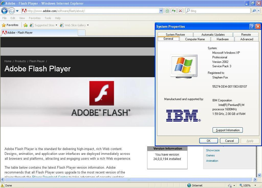 Flash player test page