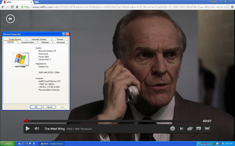 Netflix playback - Windows XP - MSFN