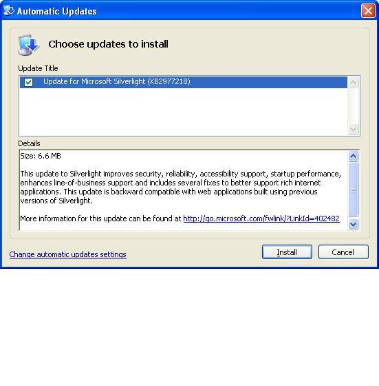 [Solved] Microsoft Updates Silverlight For XP/Vista/7