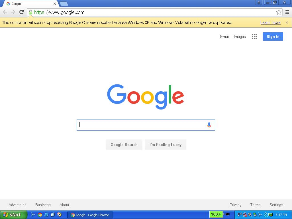 How to make google chrome my default browser in windows xp